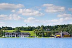 De Club van het Plateliaijacht in Plateliai, Litouwen stock afbeelding