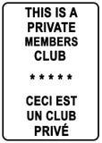 De Club van het privé Lid stock illustratie