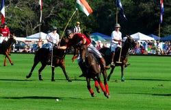 De Club van Nieuwpoort Polo Club v. Tiverton Polo Stock Foto's