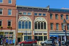 De Club van Portland Seamans bij Oude Haven, Maine, de V.S. royalty-vrije stock foto's