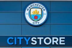 De Club van de de Stadsvoetbal van Manchester in Manchester, het UK royalty-vrije stock foto
