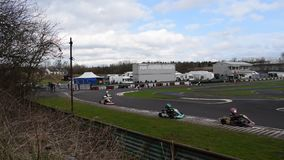 De Club Wombwell twaalfde Maart 2017 van South Yorkshire Kart stock video