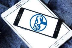 De clubembleem van de FC Schalke 04voetbal Stock Afbeelding