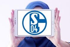De clubembleem van het FC Schalke 04voetbal Stock Afbeeldingen