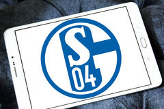 De clubembleem van het FC Schalke 04voetbal Stock Fotografie