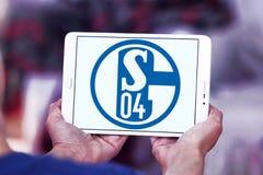 De clubembleem van het FC Schalke 04voetbal Stock Foto