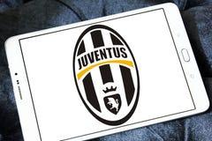De clubembleem van het Juventusvoetbal Stock Foto's