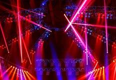 De clublichten van de nacht Stock Afbeelding