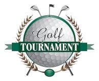 De Clubsontwerp van golftoernooien Stock Foto