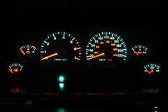 de cluster van de jaren '90auto bij nacht Royalty-vrije Stock Foto's