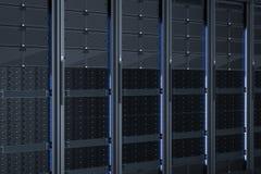 De cluster van de servercomputer Stock Afbeeldingen