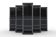 De cluster van de servercomputer Stock Afbeelding