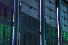De cluster van de servercomputer Stock Fotografie