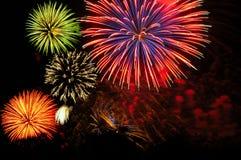 De cluster van het vuurwerk Stock Fotografie