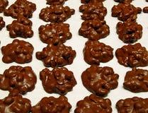 De Clusters van de chocoladepinda royalty-vrije stock fotografie