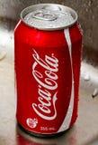 De coca-cola kan Stock Foto