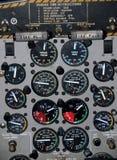 De cockpit van Airplaine stock fotografie