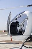De cockpit van de helikopter stock fotografie
