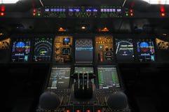 De Cockpit van de luchtbus A380 Stock Foto's