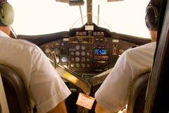 De cockpit van een tweelingotter stock foto
