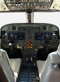 De cockpit van Gulfstream Stock Foto's