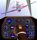 De Cockpit van het vechtersvliegtuig Stock Fotografie