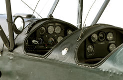 de cockpit van het veteraanvliegtuig Royalty-vrije Stock Afbeelding