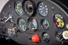 De Cockpit van het vliegtuig Royalty-vrije Stock Afbeeldingen