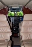 De Cockpit van het vliegtuig stock foto's