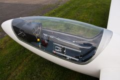 De Cockpit van het zweefvliegtuig Stock Foto's