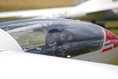 De cockpit van het zweefvliegtuig Royalty-vrije Stock Afbeelding