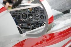 De cockpit van vliegtuigen Stock Foto