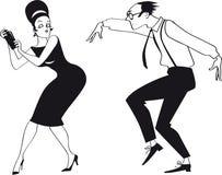 De cocktail party van Clipartjaren '60 vector illustratie