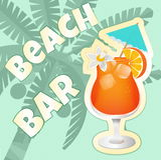 De Cocktail party van de strandbar Royalty-vrije Stock Foto's
