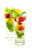 De Cocktail van bessen met Verse Munt Royalty-vrije Stock Afbeeldingen