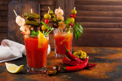 De Cocktail van de bloody mary Stock Foto