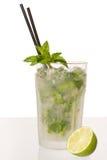 De cocktail van Caipirinha met kalk en pepermunt Stock Afbeelding