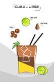 De cocktail van Cuba libre royalty-vrije illustratie