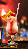 De Cocktail van de aardbei Stock Afbeeldingen