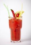 De cocktail van de alcoholtomaat met kersentomaten en Spaanse peper Royalty-vrije Stock Foto's