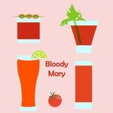 De Cocktail van de bloody mary Royalty-vrije Stock Afbeeldingen