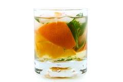 De cocktail van de citrusvrucht met munt Stock Afbeelding