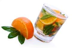 De cocktail van de citrusvrucht met munt Stock Foto's