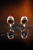 De cocktail van de Irish coffee royalty-vrije stock foto