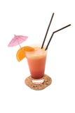 De Cocktail van de sinaasappel en van de banaan royalty-vrije stock afbeelding