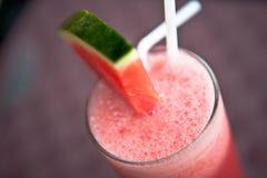 De cocktail van de watermeloen stock foto's
