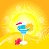 De Cocktail van de zomer Stock Illustratie