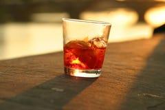 De cocktail van de zonsondergang Stock Fotografie