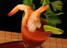 De cocktail van garnalen Stock Afbeelding