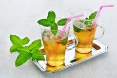 De cocktail van het muntmedicijndrankje Stock Fotografie